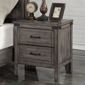 Legends Furniture Storehouse Collection Storehouse 2 Drawer Nightstand