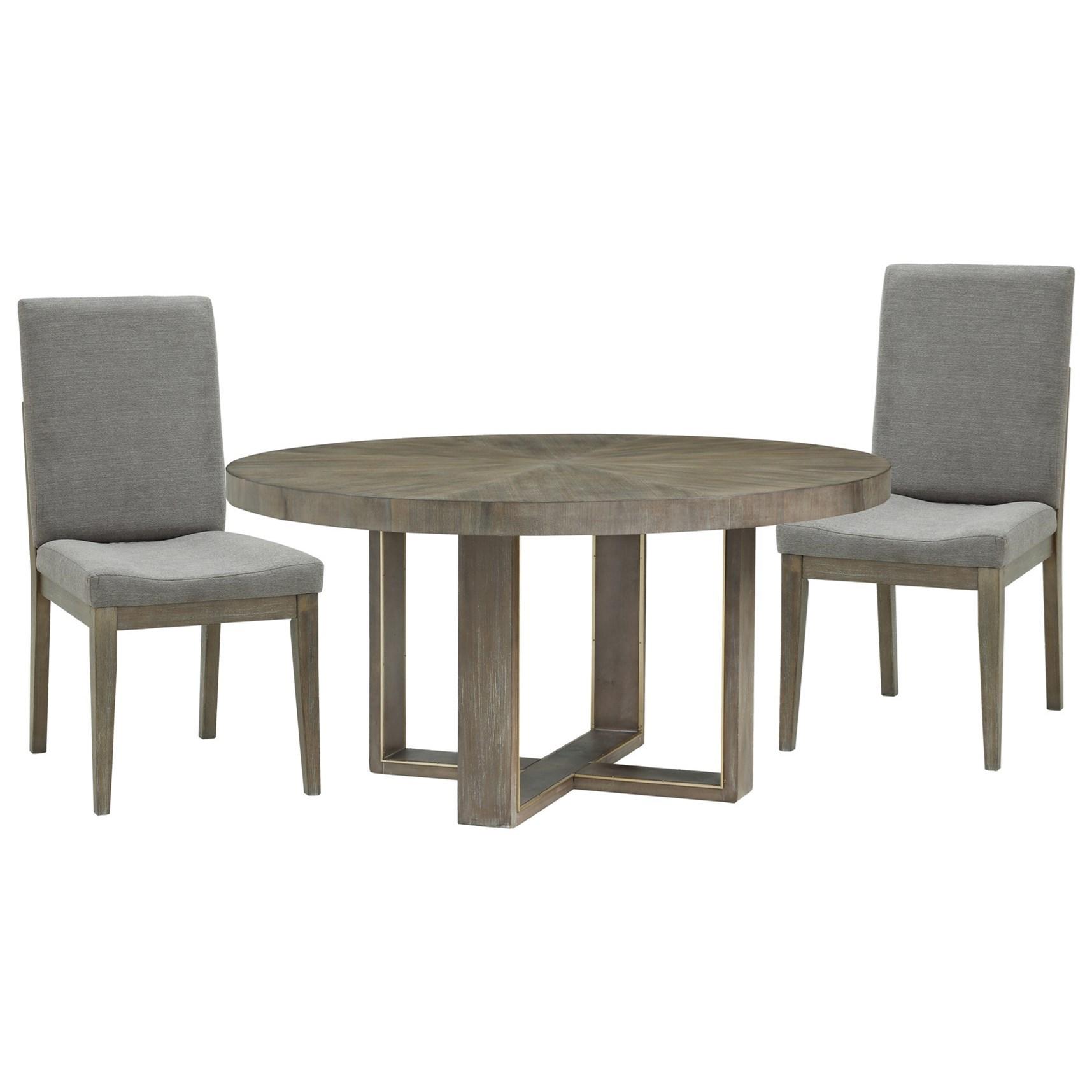 Legends Furniture Tango Contemporary 3 Piece Round Dining Set