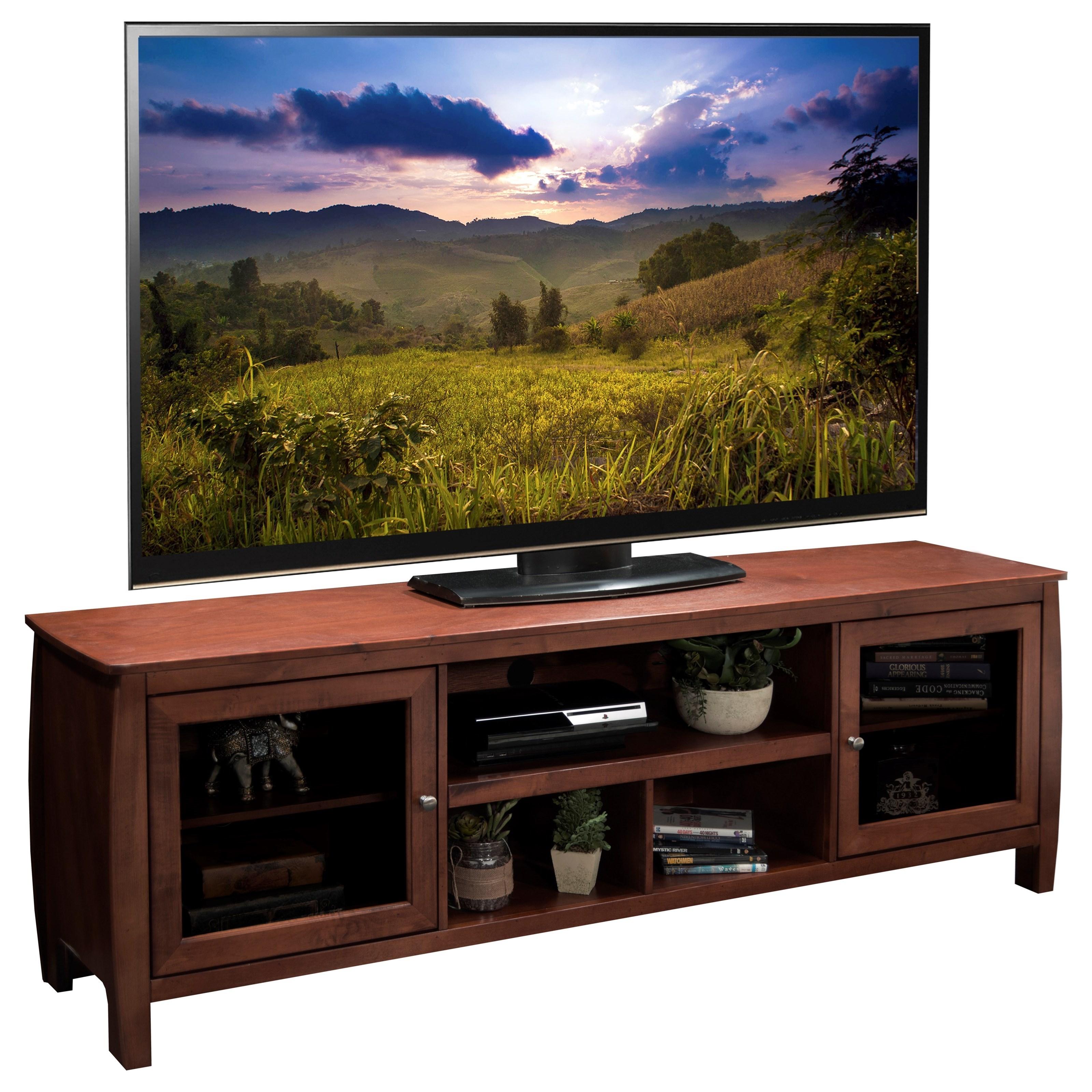 "Legends Furniture The Curve 76"" Television Console - Item Number: CV1224.SPR"