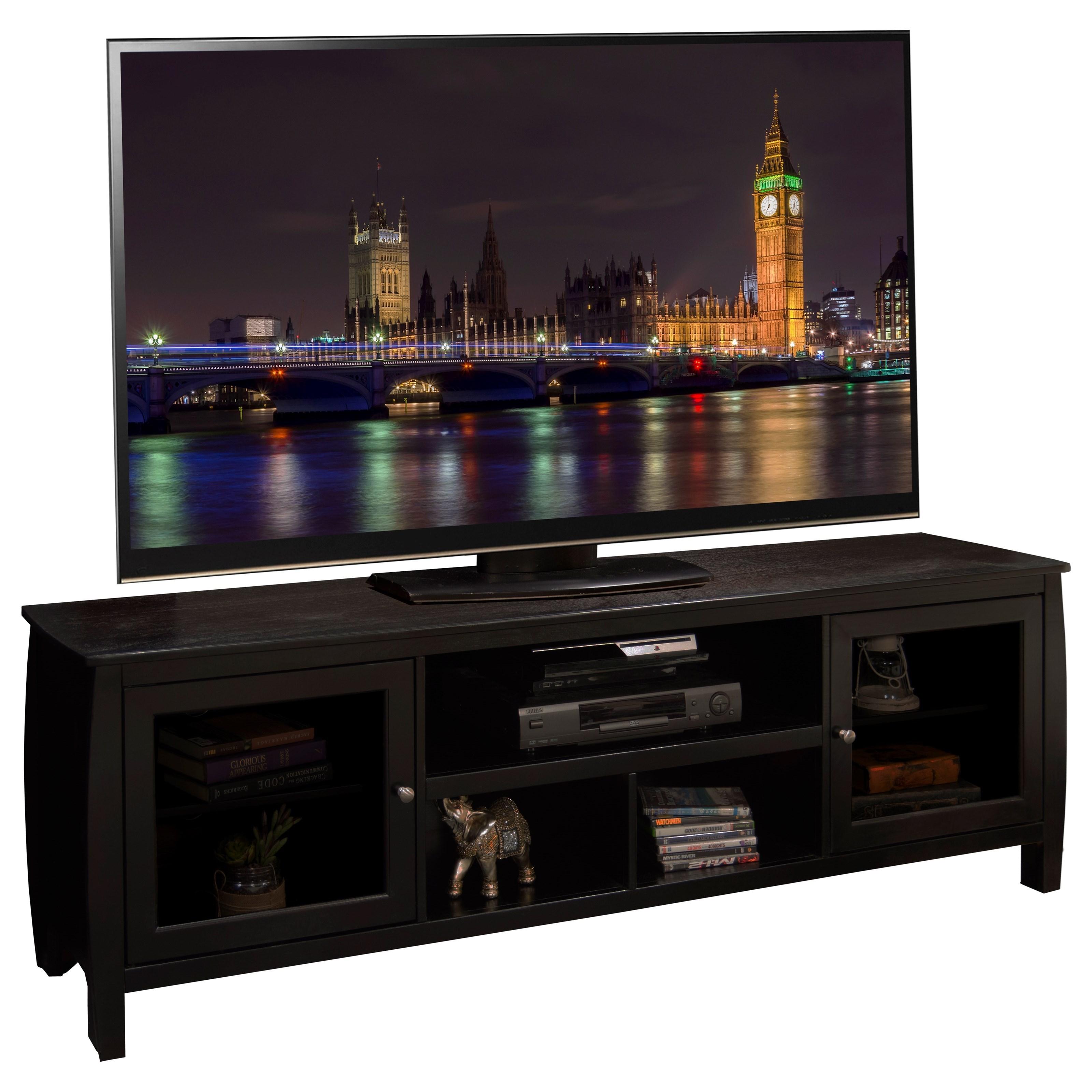 "Legends Furniture The Curve 76"" Television Console - Item Number: CV1234.MOC"