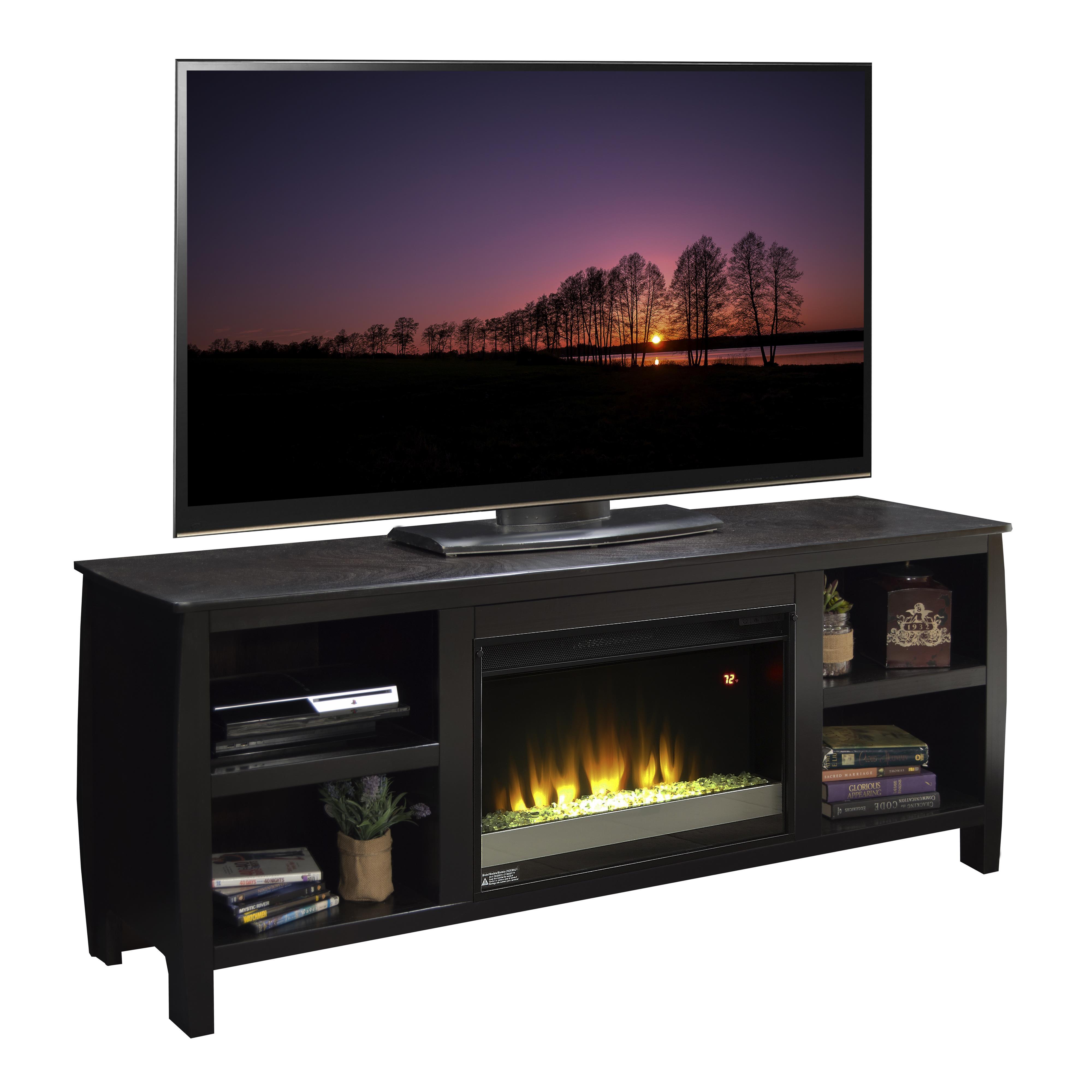 "Legends Furniture The Curve 69"" Fireplace TV Console - Item Number: CV5230.KIT"