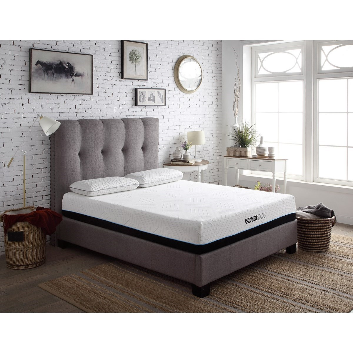 Tufted Nailhead Beds Queen Upholstered Bed