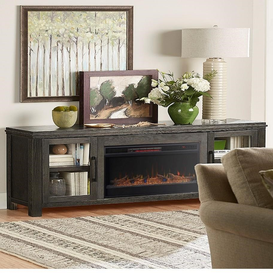 Legends Furniture Tybee Contemporary 86 Fireplace Console Darvin