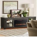 """Vendor 1356 Tybee 86"""" Fireplace Console - Item Number: TY5401-CLV"""