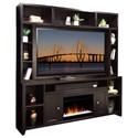 "Legends Furniture Urban Loft 84"" Fireplace Console and Hutch - Item Number: UL5284-MOC+UL1984-MOC"