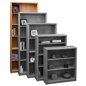 Vendor 1356 Contemporary - Value Groups Bookcase With 1 Fixed & 4 adj. Shelves