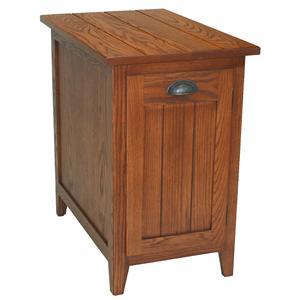 Leick Furniture Favorite Finds Mission Bin Pull Cabinet End
