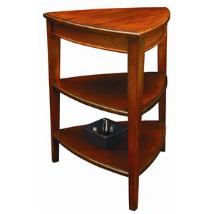 Leick Furniture Favorite Finds Shield Tier End Table with 2 Shelves