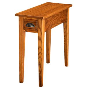 Favorite Finds Bin Pull Side Table with Drawer by Leick Furniture
