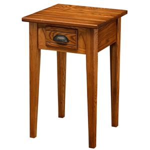 Leick Furniture Favorite Finds Bin Pull Square End Table