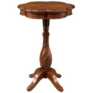 Leick Furniture Favorite Finds Twist Pedestal Accent Table