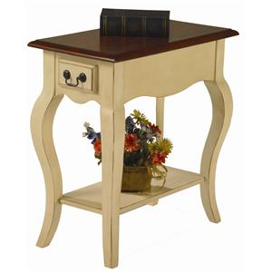 Leick Furniture Favorite Finds Traditional Side Table with Cabriole Legs