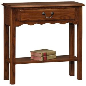 Leick Furniture Favorite Finds Casual Wave Sofa Table with Shelf