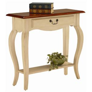Leick Furniture Favorite Finds Traditional Console Table with Drawer and Shelf