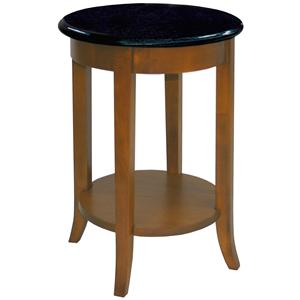 leick furniture favorite finds round granite side table