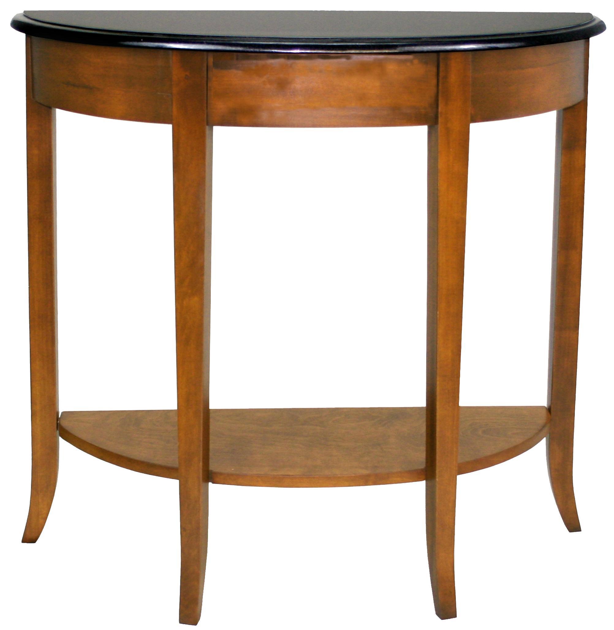 Leick Furniture Favorite Finds Casual Demilune Granite Top Console ...
