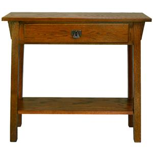Leick Furniture Favorite Finds Drawer Mission Hall Stand with Shelf