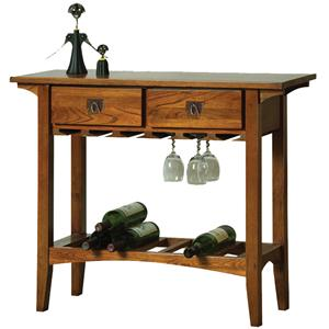 Leick Furniture Favorite Finds Mission Wine Stand