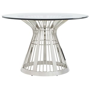 "Riviera Center Table w 48"" Glass Top"