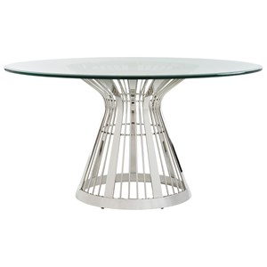 Riviera Stainless Dining Table Base With 60