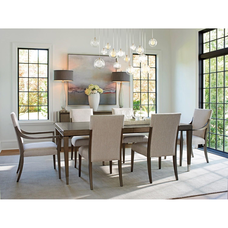 Lexington Dining Room Furniture: Lexington Ariana Saverne Upholstered Arm Chair In Marsala