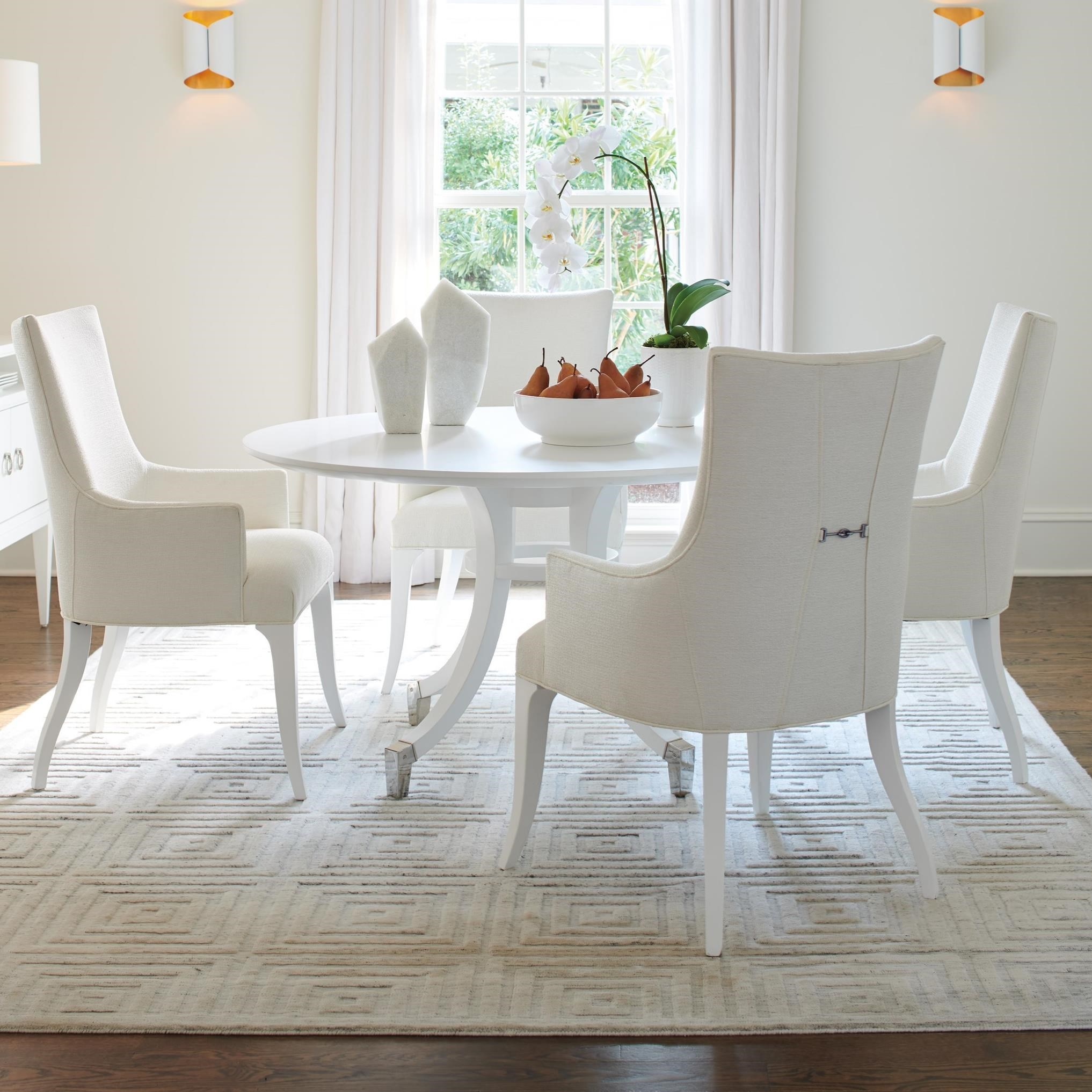 Lexington Avondale 5 Piece Dining Set With Bloomfield 54 Inch Round Table Fisher Home Furnishings Dining 5 Piece Sets