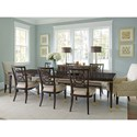 Lexington Carlyle 9 Pc Dining Set - Item Number: 736-877+6X880-01+2X885