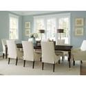 Lexington Carlyle 9 Piece Dining Set - Item Number: 736-877+6X884-01+2X885-01