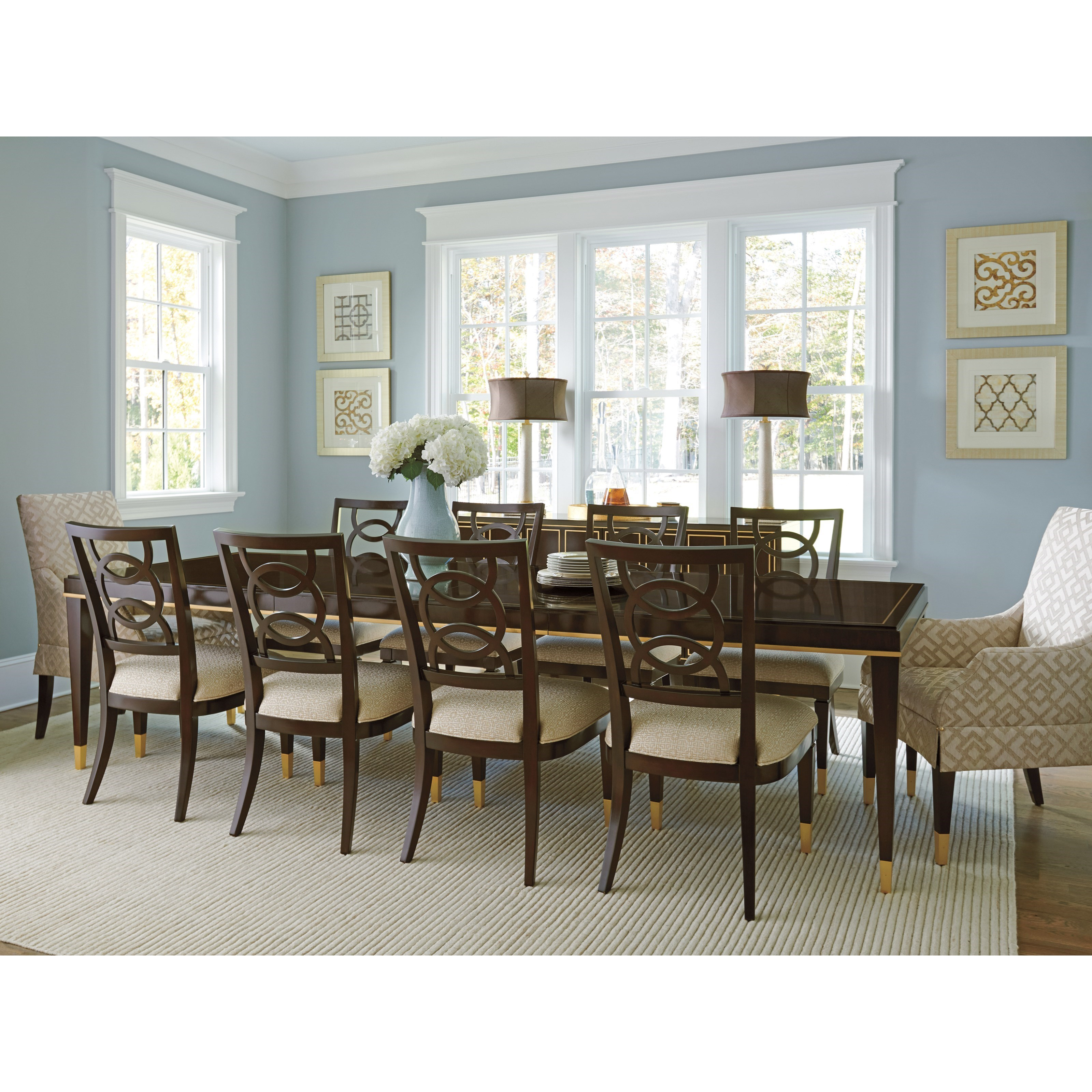 Carlyle Dining Room Set: Lexington Carlyle Transitional 11-Piece Dining Set With