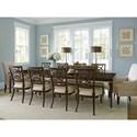 Lexington Carlyle 11 Pc Dining Set - Item Number: 736-877+8X880-01+2X885