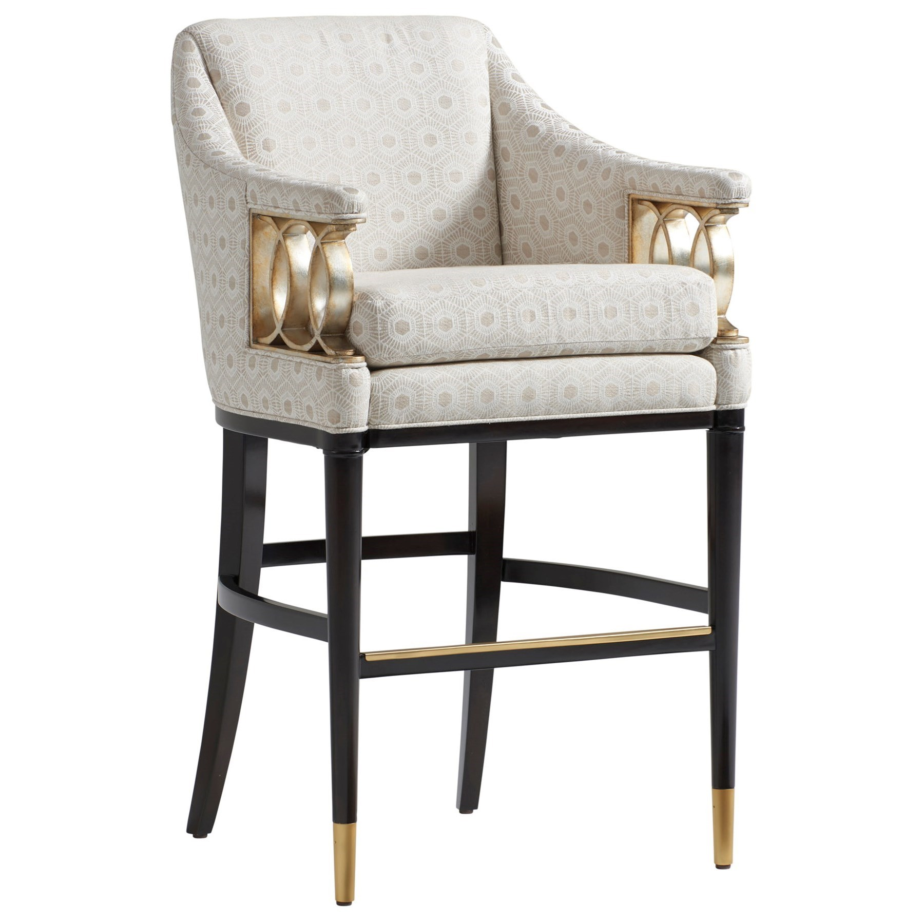 Carlyle Hemsley Upholstered Bar Stool - Custom by Lexington at Johnny Janosik