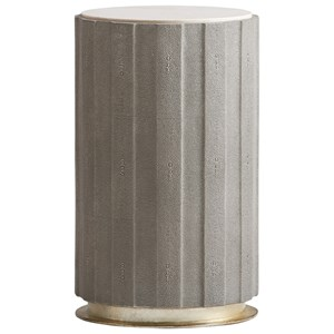 Chelsea Taupe Shagreen Accent Table