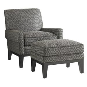 Lexington Carrera Giovanni Chair and Ottoman Set