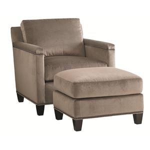 Stationary Chair and Ottoman Set