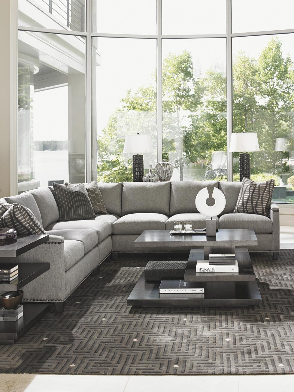 Lexington Carrera Strada Four Piece Sectional Sofa With