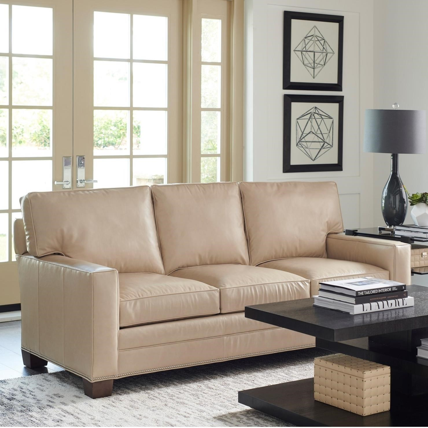 Couture Leather Brayden Customizable 3-Cushion Sofa by Lexington at Jacksonville Furniture Mart