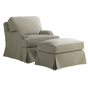Lexington Coventry Hills Stowe Slipcover Chair and Ottoman