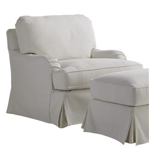 Lexington Coventry Hills Stowe Slipcover Swivel Chair