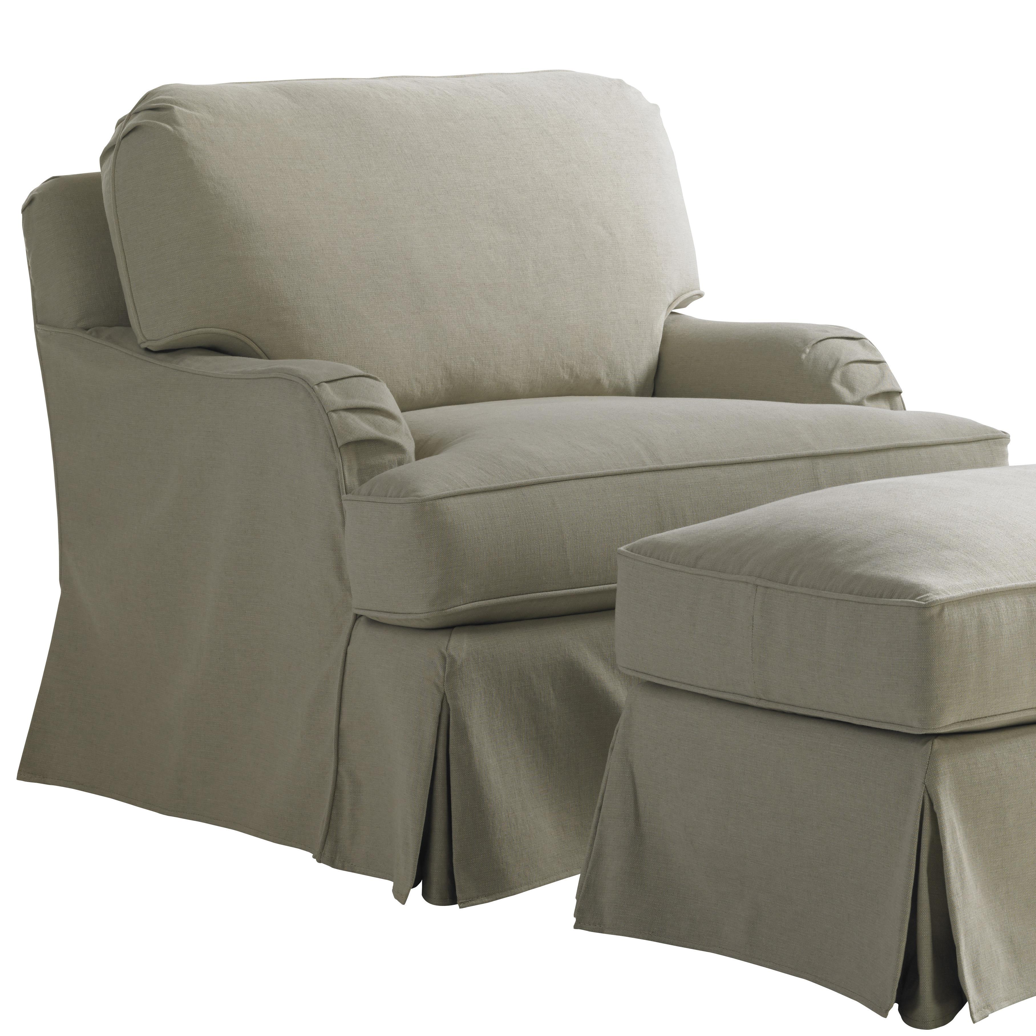 Coventry Hills Stowe Slipcover Swivel Chair by Lexington at Johnny Janosik