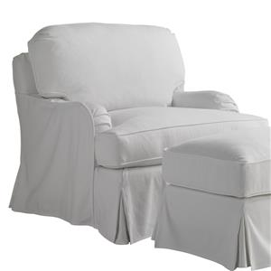 Stowe Slipcover Swivel Chair