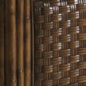 Lexington Henry Link Trading Co California King-Size Somers Isle Low-Post Bed with Padded Woven Wicker & Burnished Bronze Finials
