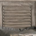 Lexington Henry Link Trading Co Queen-Size Colton's Point Headboard with Louvered Panels