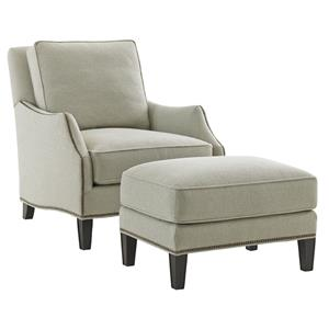 Lexington Kensington Place Ashton Chair and Ottoman