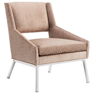 Lexington Kitano Amani Chair w/ Polished Chrome Base