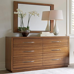 Lexington Kitano Dresser + Mirror Set