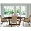 Lexington Kitano 5 Pc Dining Set - Item Number: 734-877C+2X881-01+2X880-01