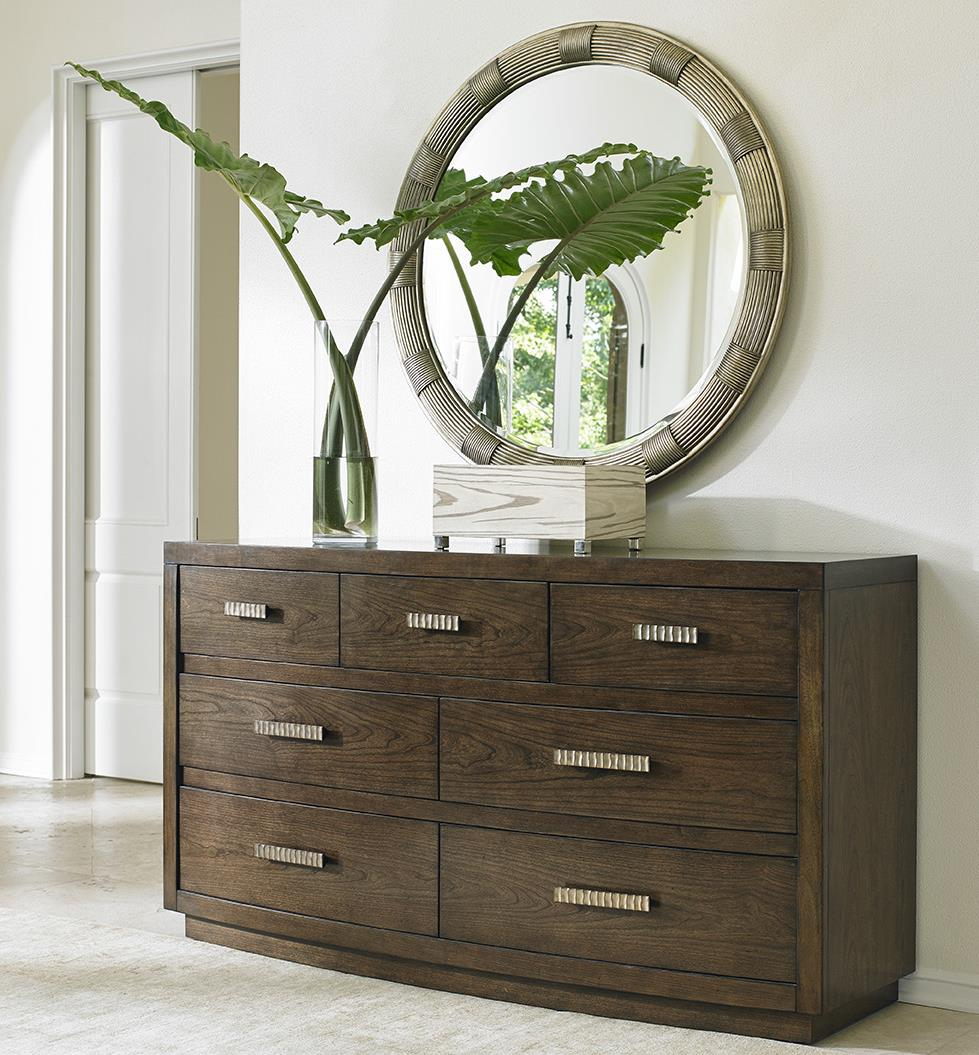 Lexington LAUREL CANYON Radcliffe Dresser and Beverly Mirror Set - Item Number: 721-233+721-201