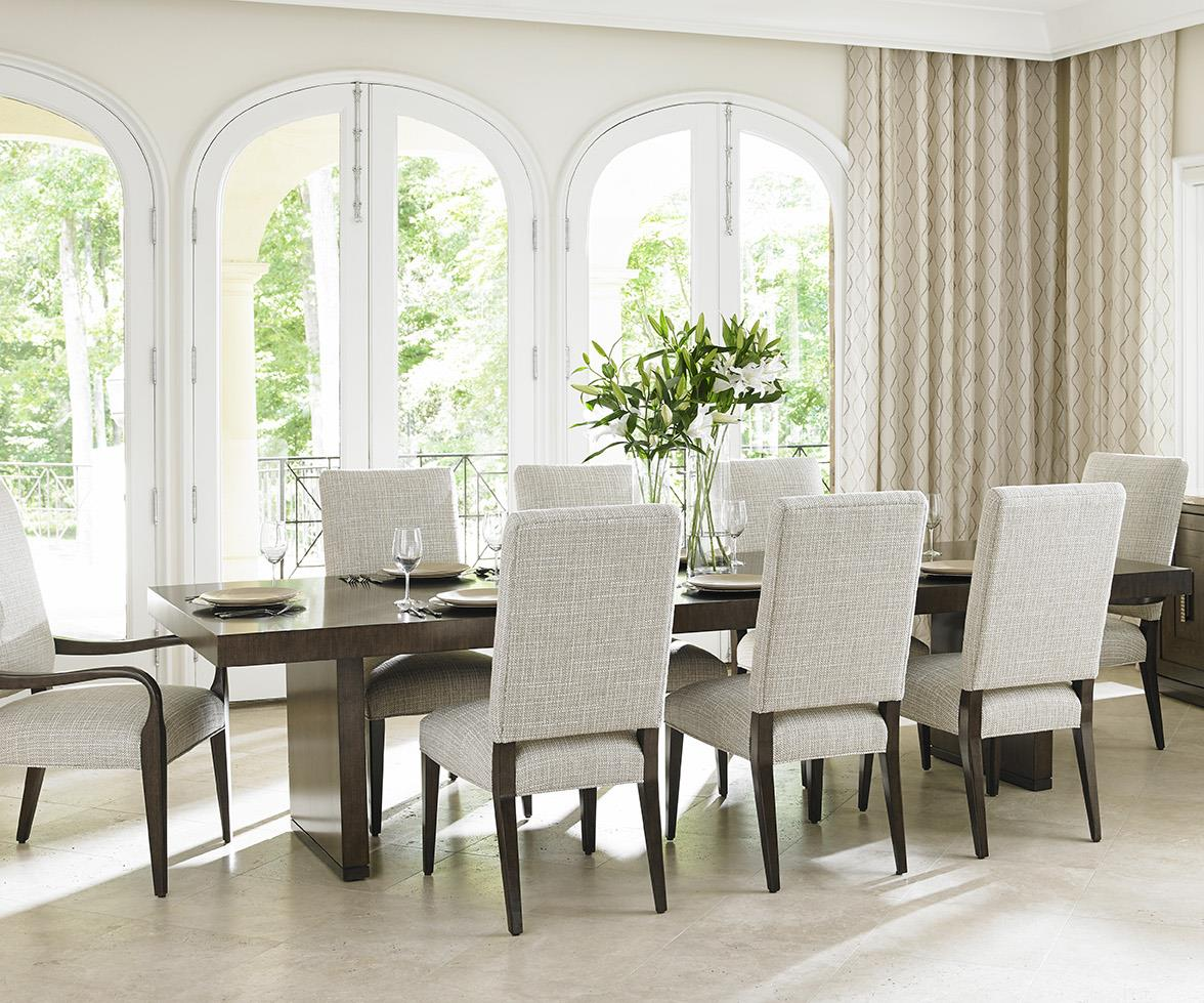 Lexington Laurel Canyon Nine Piece Dining Set With San