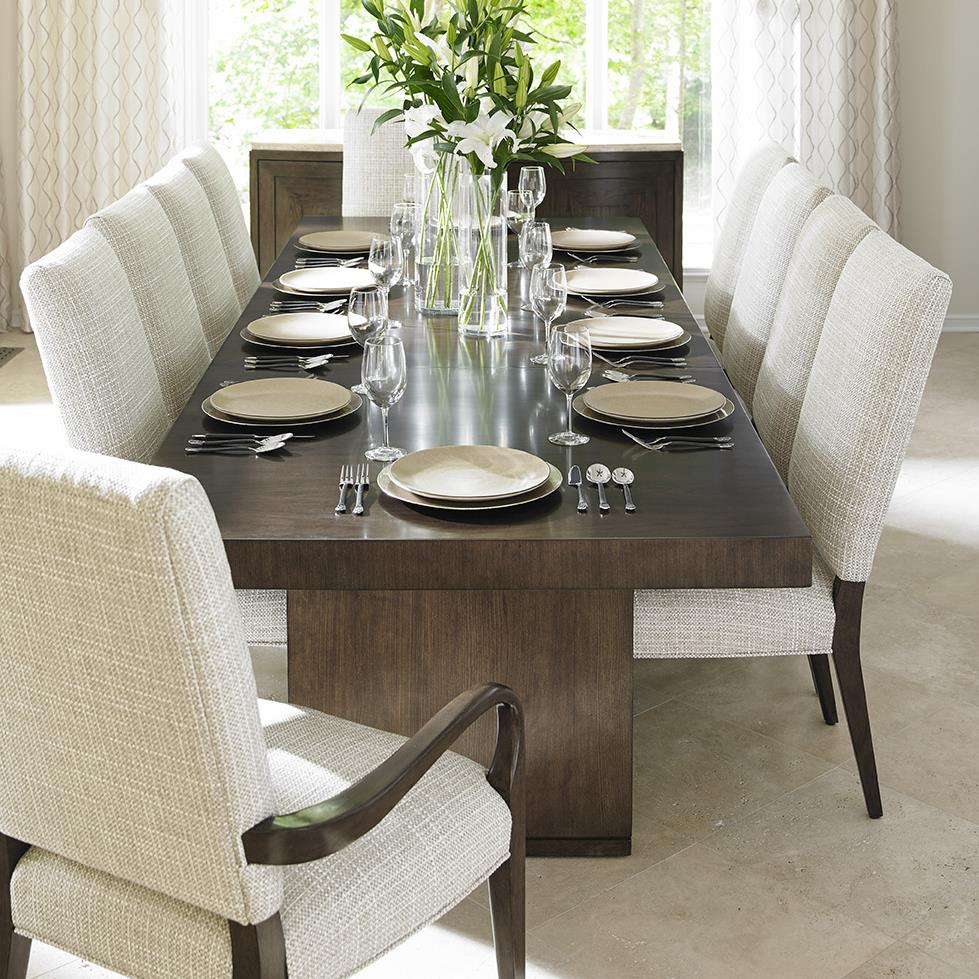 11 piece dining room set lexington laurel canyon eleven piece dining set with san lorenzo table and married fabric sierra 5121