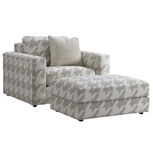 Bellevue Chair and Ottoman Set